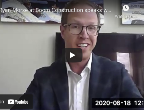 Ryan Morse at Boom Construction speaks with Rod Anderson of Smile with Sandbox, Business Hero Story