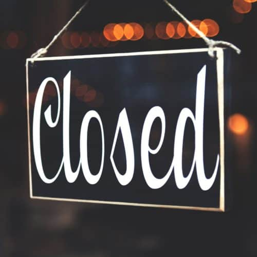 online location search closed sign